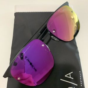 Quay Australia Private Eyes Aviator Sunglasses